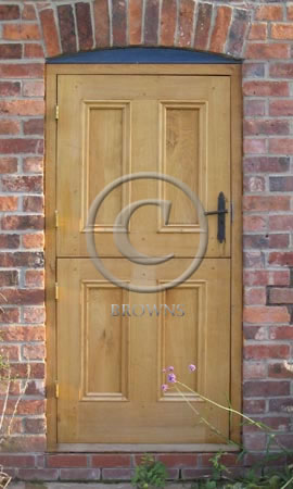 Four panel oak stable door