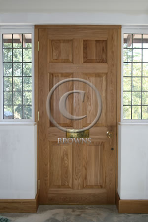 Georgian panel oak door