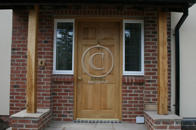 Georgian panel oak front door