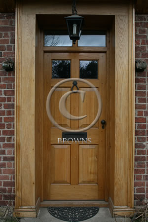 Georgian solid oak panel door