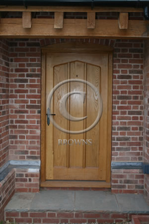 Solid oak gothic door