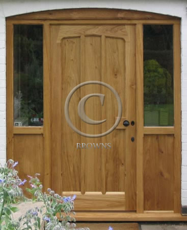 Browns range of quality external oak doors for Oak front doors