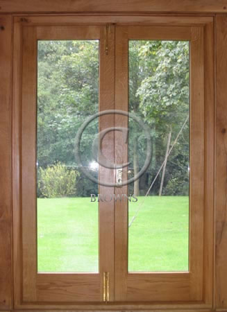 ED10 Oak glazed doors