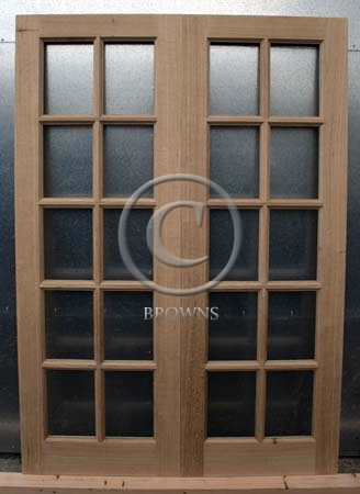 ED11 Ten pane oak doors