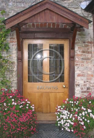 ED12 Raised and fielded oak panel door