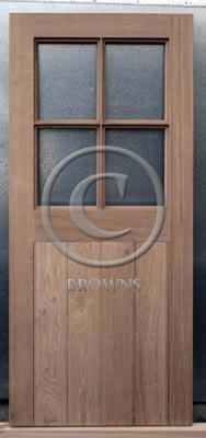 ED13 Four pane oak door