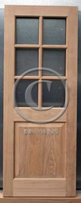 ED14 Six pane oak door