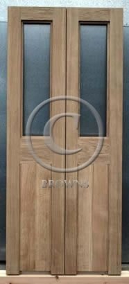 ED15 Pair of oak doors