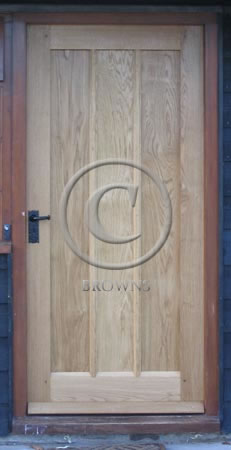 ED2 Simple plank and muntin oak door