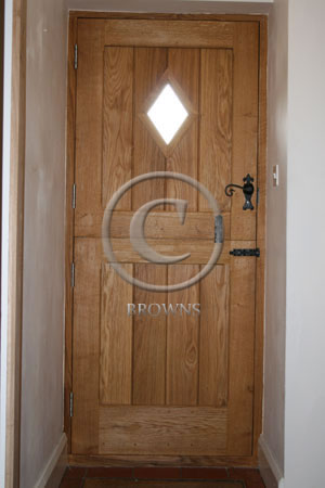 ED4 Oak flb stable door reverse