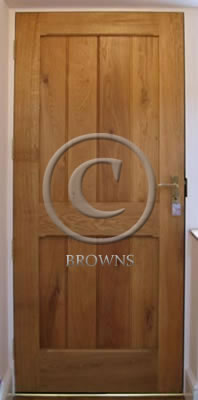 ED5 Oak door reverse