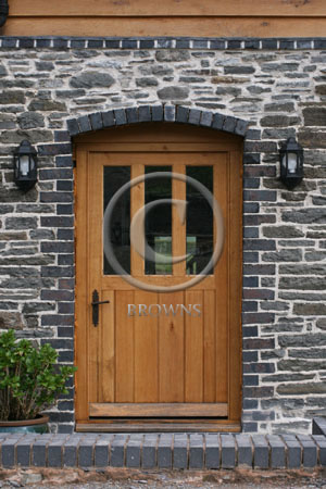 ED7 Oak door with three panes