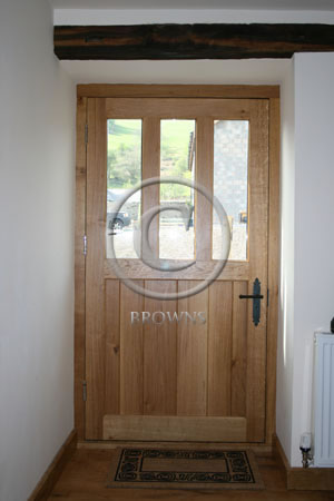 ED7 Oak door reverse