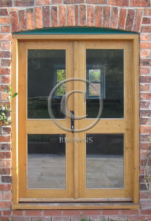 ED9 Glazed oak doors