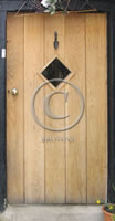 external oak plank door