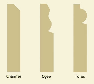 Chamfer, Ogee and Torus skirting profiles