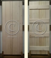 front and reverse of soft wood doors & Browns Range Of Quality Internal Oak Doors