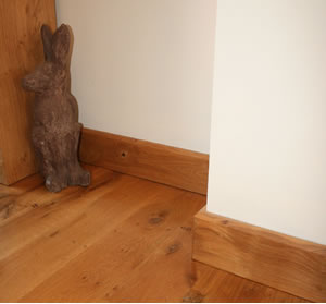 chamfer oak skirting design