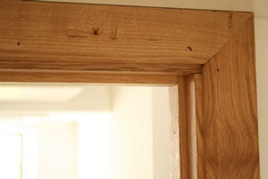 oak door lining in situation