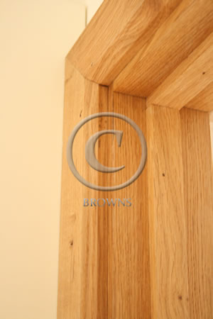 Oak door surround detail