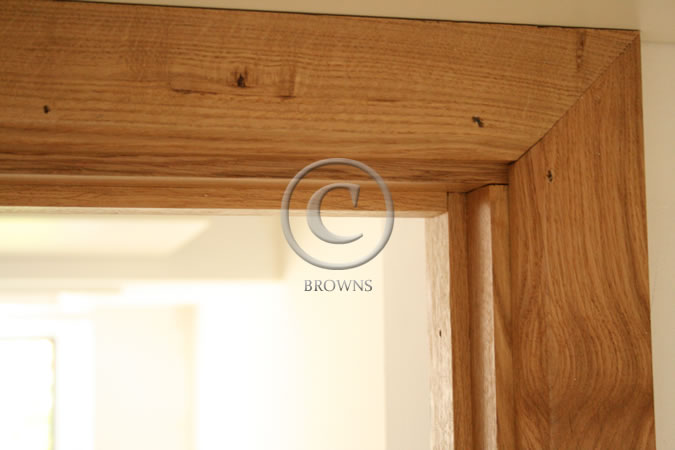 Oak door linings and stops
