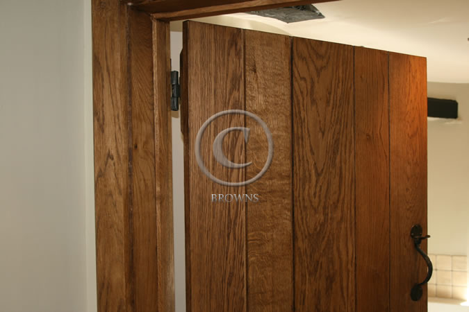 Oak door surround