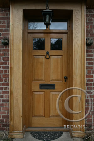 solid oak georgian panel door : door joinery - pezcame.com