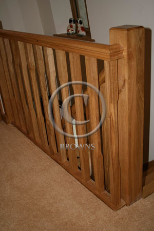 Stop chamfered spindles and newel post