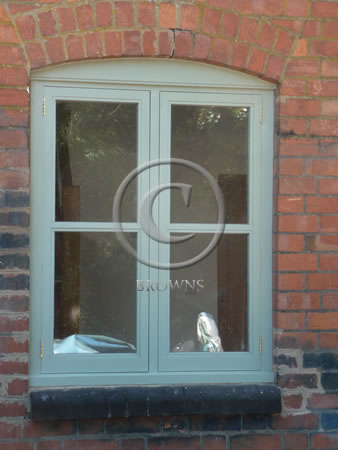 Softwood painted window