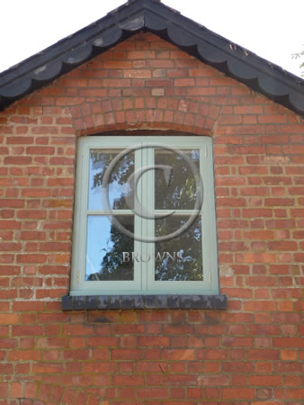 Cottage style painted window