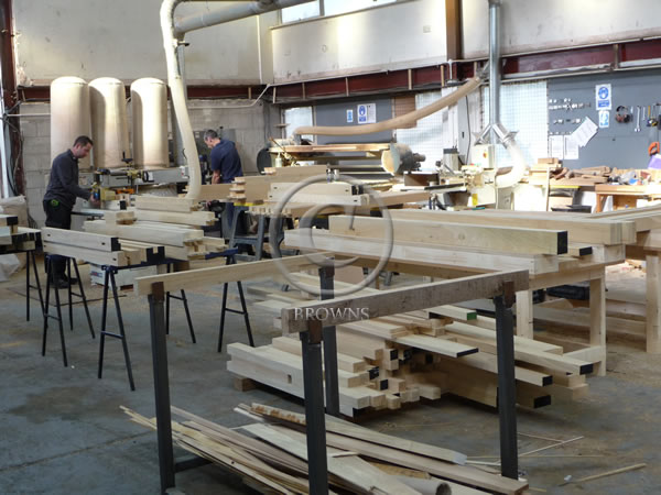Joinery being made in browns workshop